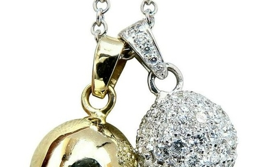 2.50 Carat Natural Diamonds Cluster Balls Double Dangle