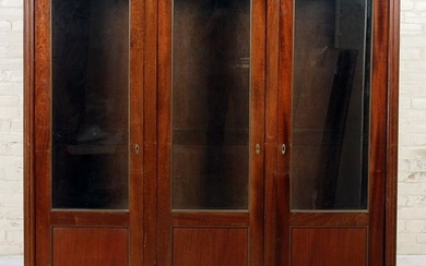 DIRECTOIRE STYLE FRENCH MAHOGANY MARBLE BOOKCASE