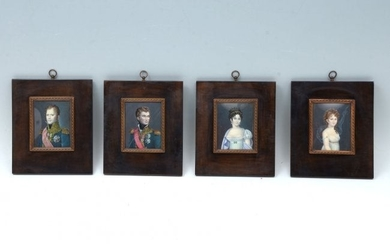 FOUR EXCEPTIONAL GUILLORY MINIATURE PAINTING