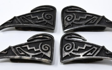 4 J Roger's Silver Native American Coyote Slides