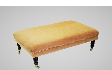 A 19th century style upholstered footstool of country house ...
