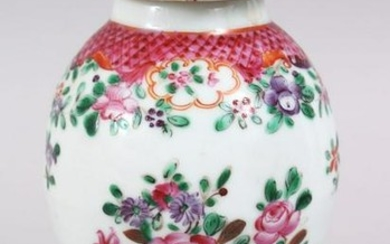 A CHINESE 19TH CENTURY FAMILLE ROSE PORCELAIN TEA
