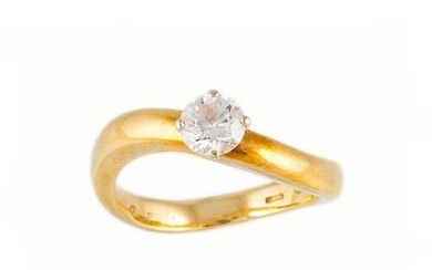 A DIAMOND SOLITAIRE RING BY DAMIANI, the brilliant cut diamo...