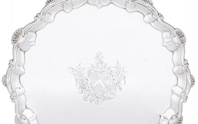 A George II silver salver, London, c.1758,...
