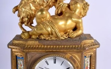 A LARGE MID 19TH CENTURY FRENCH ORMOLU AND SEVRES