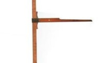 A LATE 19TH CENTURY BOXWOOD HORSE MEASURE having a
