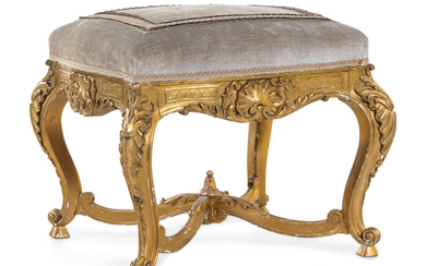 A Louis XV Style Giltwood Tabouret