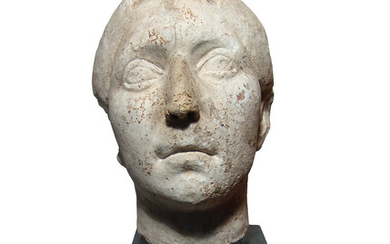 A Roman Republic marble head of a man