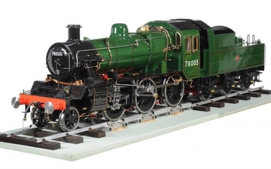 A fine exhibition quality 7 ¼ inch gauge model of a 2-6-0 (Mogul) British Railways Standard Class 2 tender locomotive No 78005