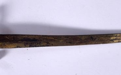 AN ANTIQUE BRONZE LETTER OPENER IN THE FORM OF A SWORD