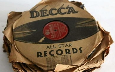 ANTIQUE RECORD GROUPING OF MORE THAN 30 RECORDS