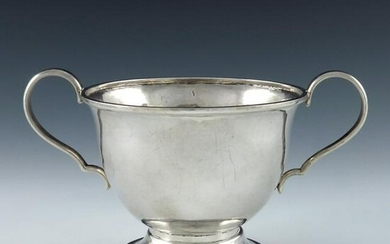An Arts and Crafts silver twin handled bowl, Central