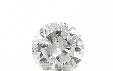 NOT SOLD. An unmounted brilliant-cut diamond weighing 0.50 ct. Colour: River (D). Clarity: P. –...