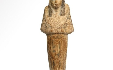 Ancient Egyptian Wood Shabti Inscribed to Tedjed-I-Ires,18th - 22nd Dynasties