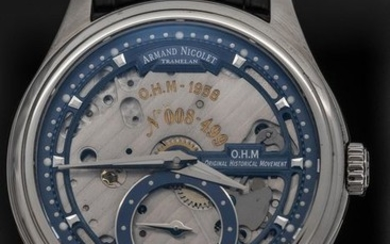 """Armand Nicolet - L14 Small Seconds Skeleton Dial Limited Edition Number 8 of 499 O.H.M. Swiss Made - A750AAA-BU-P713NR2 """"NO RESERVER PRICE"""" - Men - Brand New"""
