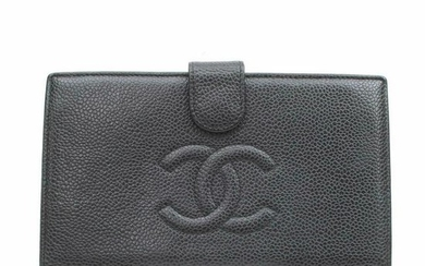 Authentic CHANEL Cavier Skin Long Wallet