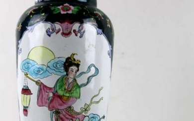 CHINESE ANTIQUE CLOISONNE 12 INCH VASE
