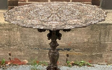 Cast Iron Zodiac Fixed Top Garden Table