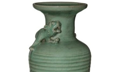 Chinese Longquan Celadon Vase, Song or Yuan