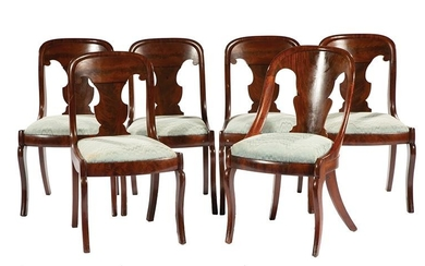 Classical-Style Carved Mahogany Side Chairs