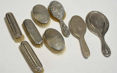Collection of Sterling Dresser Items