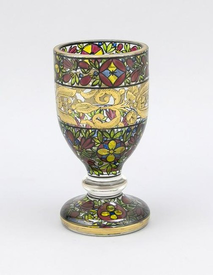 Cup glass, round domed st