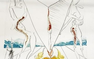DALI SIGNED PHILOSOPHER CRUSHED COSMOS LITHOGRAPH