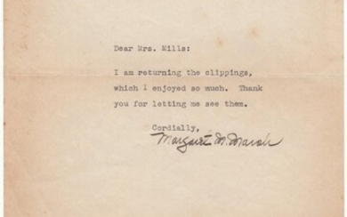 Fine typed letter signed