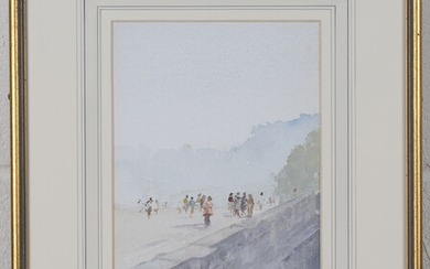 Francis Russell Flint - 'November Morning, Versailles', watercolour, signed recto, titled