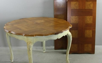French Style Table with Carved Legs