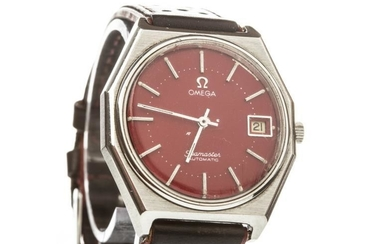 GENTLEMAN'S OMEGA SEAMASTER STAINLESS STEEL AUTOMATIC WRIST WATCH, signed...