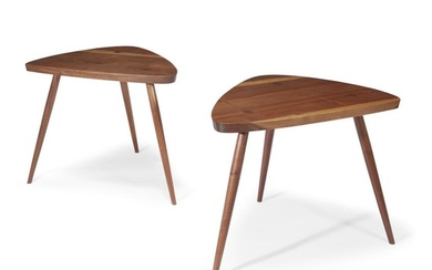 """George Nakashima (American, 1905-1990) A Pair of """"Wohl"""" Tables,..."""