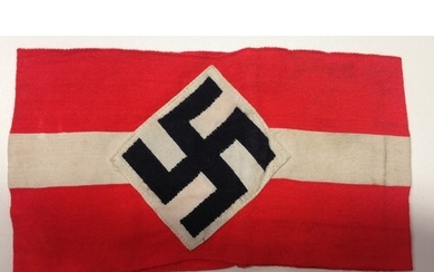 German WW2 Hitler Youth Arm Band.Cotton band with diamond an...