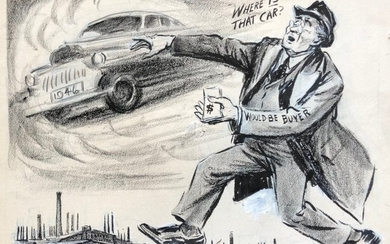 LUTE PEASE (1869-1963, Oregon) Where Is The Car