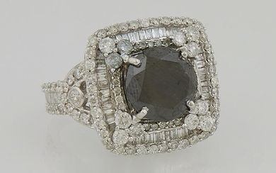 Lady's 14K White Gold Dinner Ring, with a circular 4.82
