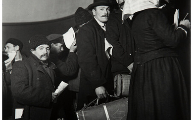 Lewis Wickes Hine (1874-1940), Climbing into the Land of Promise, Ellis Island, New York (1908)