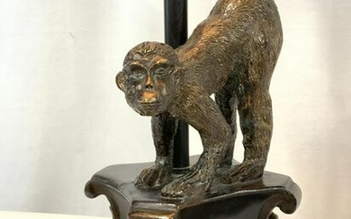 MONKEY FIGURAL LAMP, Brushed Bronze Metal