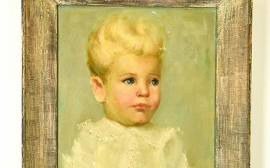 Mary Rose Anthony Mid C Portrait Oil Painting