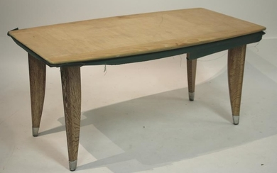 Mid Century Oak Coffee Table, poss. Prouve