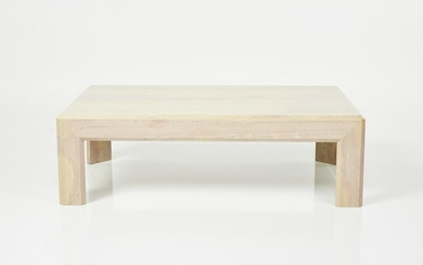Modern, Travertine Coffee Table