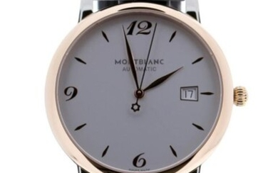 Montblanc - Star Classique Steel/Red Gold Silver Dial - 112145 - Unisex - 2019