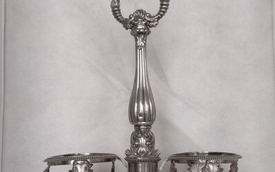 Oil and vinegar cruet stand - .950 silver - France - Early 19th century