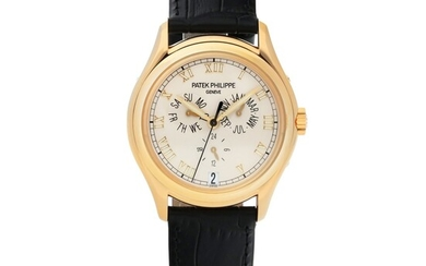 PATEK PHILIPPE | REF 5035 YELLOW GOLD ANNUAL CALENDAR WRISTWATCH WITH 24-HOUR INDICATION MADE IN 2001