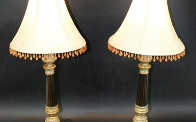 Pair of Empire style lamps
