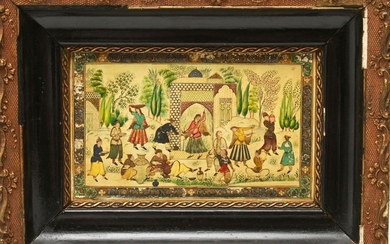 Persian Miniature Painting on Panel