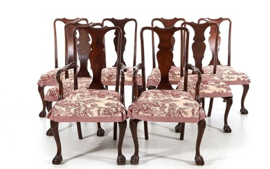 Queen Anne style dining chairs (8pcs)