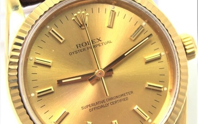 """Rolex - 18KT Gold """"NO RESERVE PRICE"""" Oyster Perpetual - 14238 """"N"""" 1991 Excellent condition - Men - 1990-1999"""