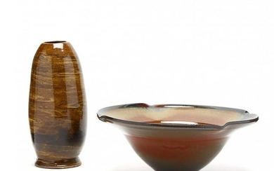 SC Studio Pottery, Two Works by Dale Duncan