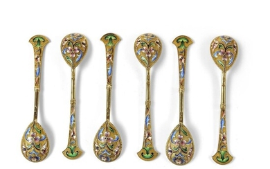 Set of Russian spoons