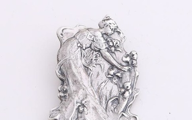 Silver brooch, 925/000, Art Nouveau style with a